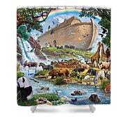 Noahs Ark - The Homecoming Shower Curtain by Steve Crisp
