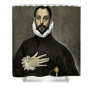 Nobleman With His Hand On His Chest Shower Curtain