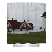 Nobska Point Light Shower Curtain