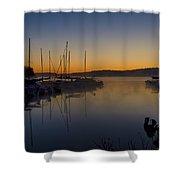 Nockamixon Marina At Dawn Shower Curtain