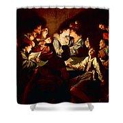 Nocturnal Concert Shower Curtain by Jean  Leclerc