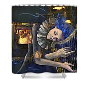 Nocturne Shower Curtain by Dorina  Costras