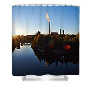 Nokia Paper Mill Shower Curtain