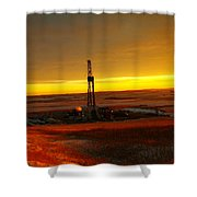 Nomac Drilling Keene North Dakota Shower Curtain