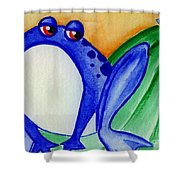 Nonchalant Frog Shower Curtain
