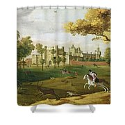 Nonsuch Palace In The Time Of King Shower Curtain