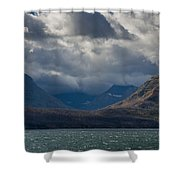 Noontide At St. Mary Lake Shower Curtain