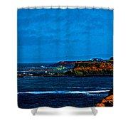 Nor Cal Seascape Shower Curtain