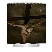 Nordic Crucifix Shower Curtain