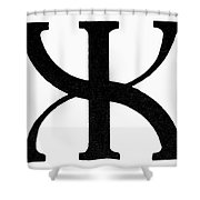 Nordic Rune Gilch Shower Curtain