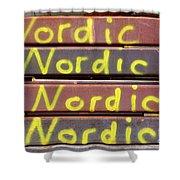 Nordic Rusty Steel Shower Curtain