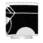 Nordic Symbol Anvil Shower Curtain
