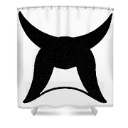 Nordic Symbol Horns Shower Curtain