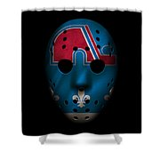 Nordiques Jersey Mask Shower Curtain