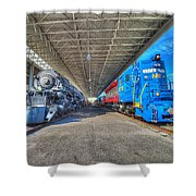 Norfolk And Western 1776 And 1218 Shower Curtain