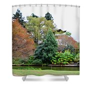 Norfolk Botanical Gardens Canal 9 Shower Curtain