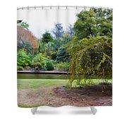 Norfolk Botanical Gardens Canal Shower Curtain
