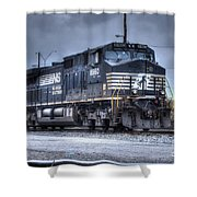 Norfolk Southern #8960 Engine II Shower Curtain