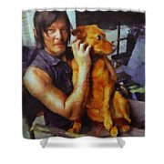 Norman And Charlie  Shower Curtain