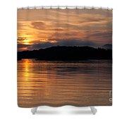 Norris Lake Sunrise Shower Curtain