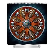Norse Aegishjalmur Shield Shower Curtain by Richard Barnes