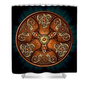 Norse Chieftain's Shield Shower Curtain