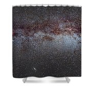 North America Nebula The Milky Way From Cygnus To Perseus And Andromeda Galaxy Shower Curtain