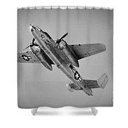 North American B-25 Mitchell Bw Shower Curtain