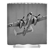 North American B-25j Bw Shower Curtain