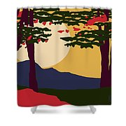 North American Landscape Shower Curtain