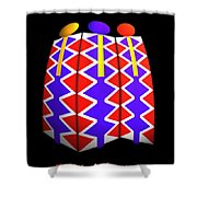 North American Pattern Shower Curtain