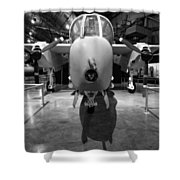 North American Rockwell Bronco Shower Curtain