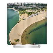North Avenue Beach And Castaways Restaurant Shower Curtain