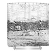 North Beach Tenby Shower Curtain
