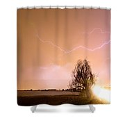 North Boulder County Colorado Lightning Strike Shower Curtain