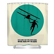 North By Northwest Poster 1 Shower Curtain by Naxart Studio