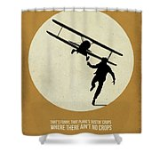 North By Northwest Poster Shower Curtain by Naxart Studio