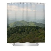 North Carolina Blue Ridge Mountains Shower Curtain