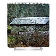 North Carolina Country Barn Shower Curtain