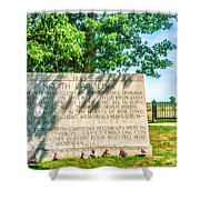 North Carolina Memorial Gettysburg Battleground Shower Curtain