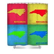 North Carolina Pop Art Map 1 Shower Curtain