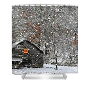 North Carolina Quilt Barn Shower Curtain