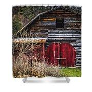 North Carolina Red Door Barn Shower Curtain