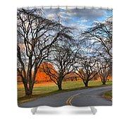 North Carolina Sloan Park Sunset Shower Curtain