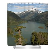 North Cascades Shower Curtain
