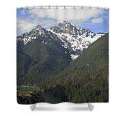 North Cascades Landscape Shower Curtain