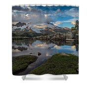North Cascades Tarn Reflection Shower Curtain