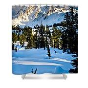 North Cascades Winter Shower Curtain