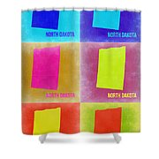 North Dakota Pop Art Map 2 Shower Curtain