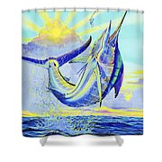 North Drop Off00132 Shower Curtain